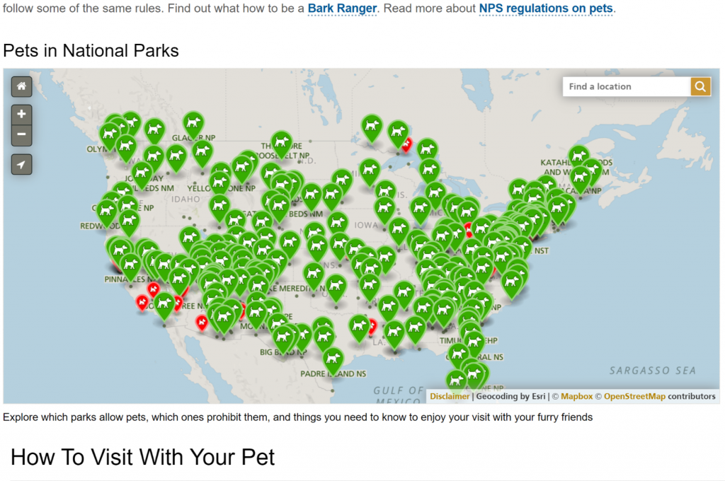 Dog-friendly National Parks