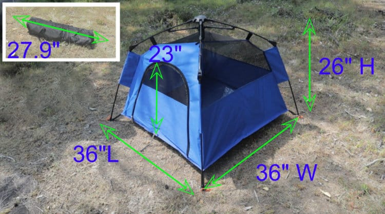 Yolafe Dog Tent Dimensions
